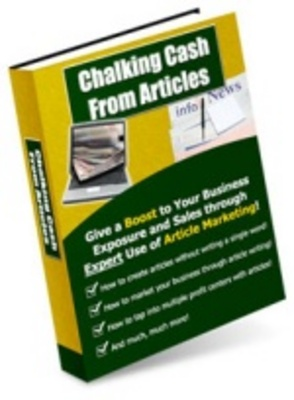 Product picture Chalking Cash from Articles - Give a Boost to Your Business